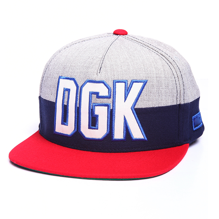 100% Cotton Custom Flat Embroidery Snapback Caps Wholesale