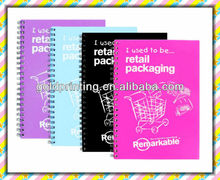 Cheap bulk notebooks printing with spiral binding