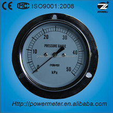 50Kpa 75mm panel mount low presure capsule pressure gauge diaphragm with flange