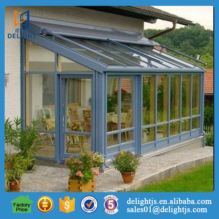 China aluminum framed villa double glazed sunrooms for green house