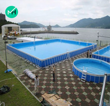 Crazy funny commercial steel frame pvc swiming pool for sale