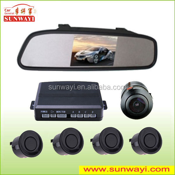 "4.3"" TFT LCD Mirror Display Parking Sensor with Rear View Camera for Parktronic"