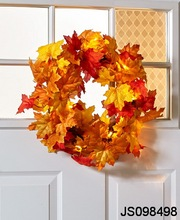 Maple leaf wreath, for hanging wall, for Autumn decoration
