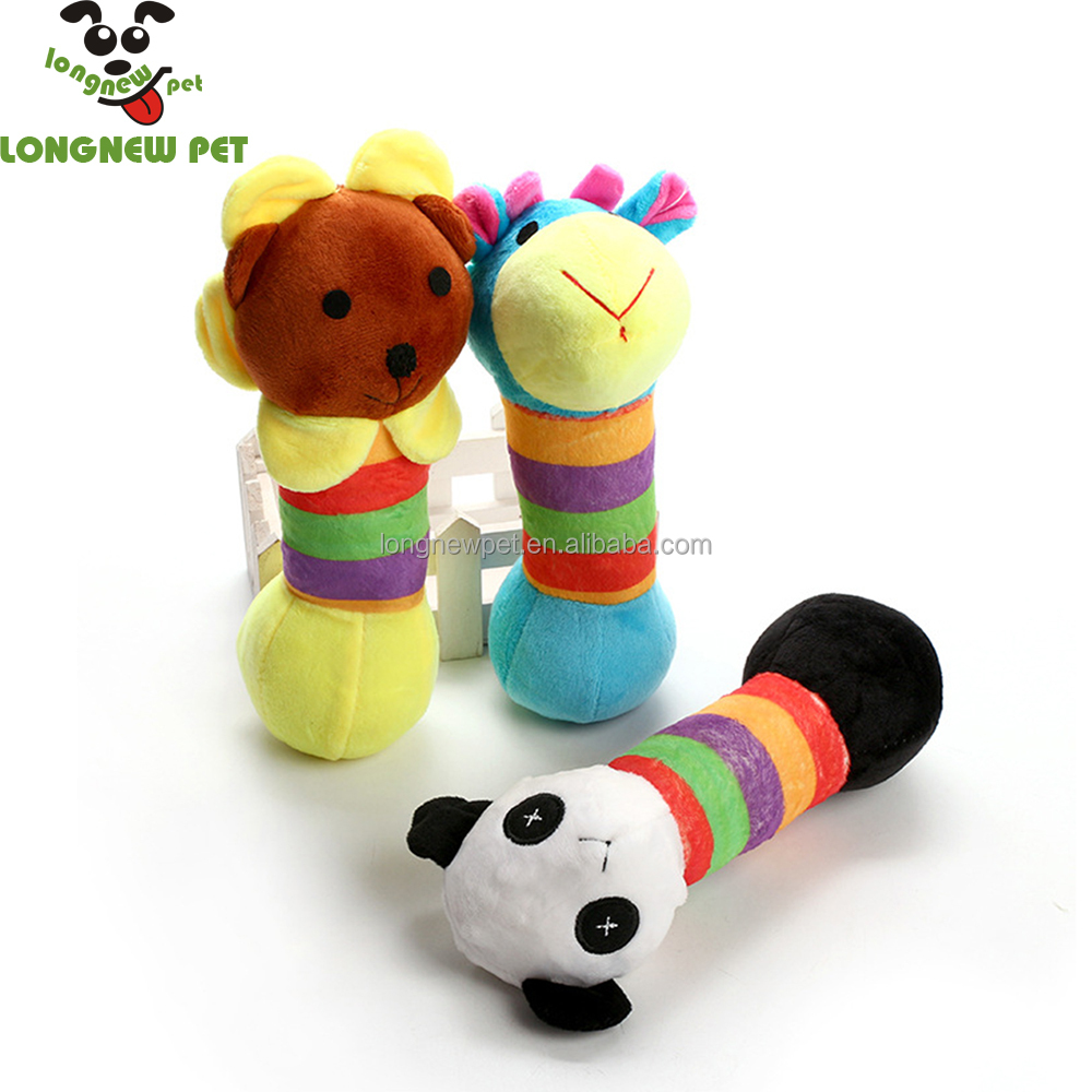 Plush Squeaky Dog Toy With Animal Shaped In Different Colors For Pet Puppy Products Wholesale