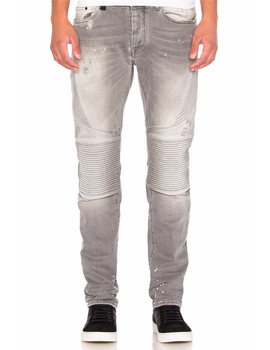Royal wolf denim jeans manufacturer grey faded wash biker jeans