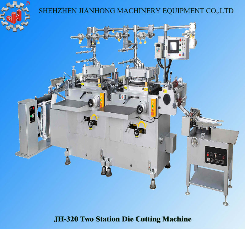 JH-320 hight quality automatic hot stamping punching hole die cutting machine cardboard