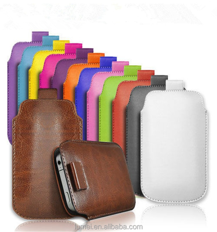 Pull Tab PU Leather Pouch Case Cover For BlackBerry 9720