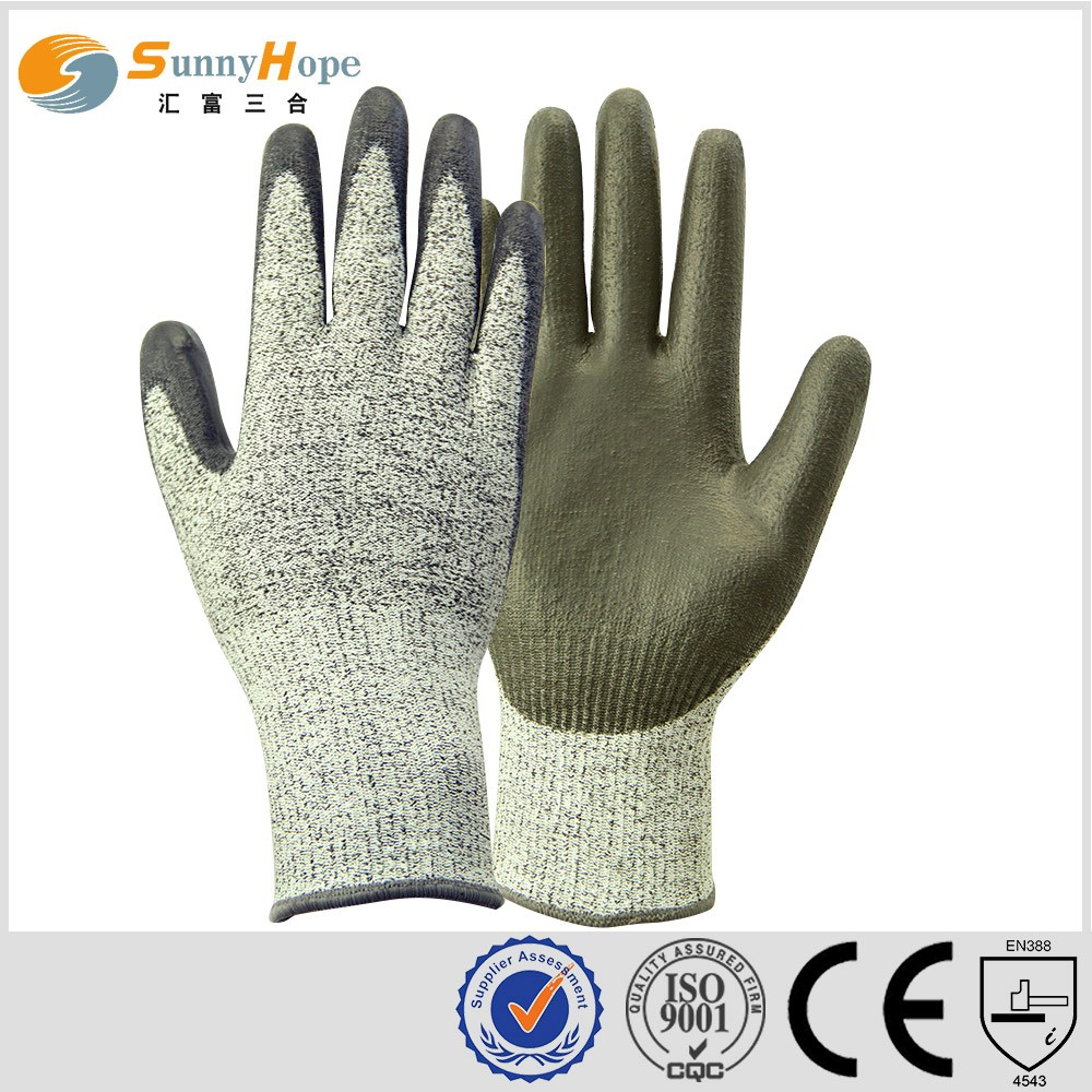 PU glove level 5 anti-cut glove safety working gloves