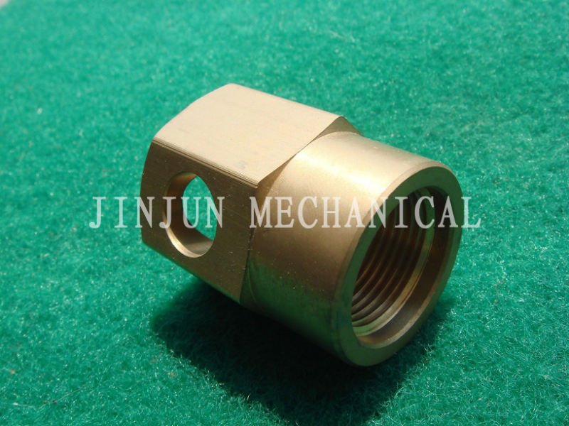 CNC machining best price brass flange hex nuts