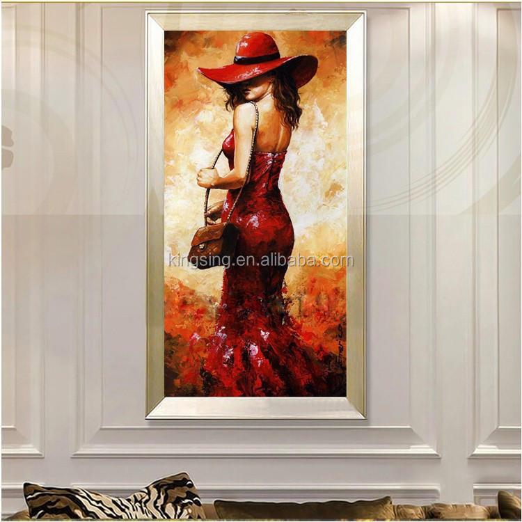 Handmade Canvas Nude Women Painting For Bedroom