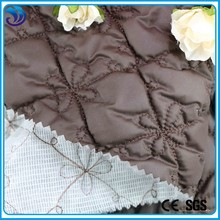 Polyester wadding embroidery quilted fabric for winter garment