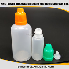 Empty 50ml HDPE Cyanoacrylate Adhesive & Super Glue Plastic bottles with tamper childproof cap from china supplier