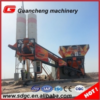 YHZS25 mini well selling concrete mix batch station mobile with 100t sheet cement silo
