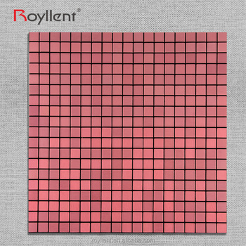 Pink Metal Glass Mosaic tile Modern Kitchen Home Decoration Bathroom Design Building Materials China Supplier RM201628