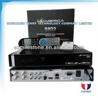 NEW Azamerica s922 full hd with good price satellite receiver , decode nagra 3 full hd twin tuner for south america market