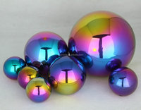 stainless steel color ball golden finished ball