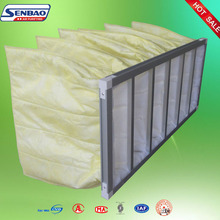 Dust collector pocket panel pleated air filter bag