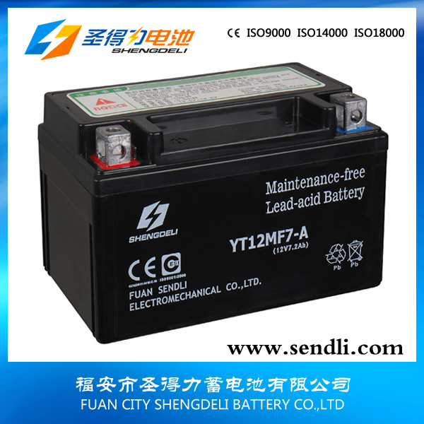 110CC Motorcycle Parts 12V Flooded Lead Acid Battery With Acid