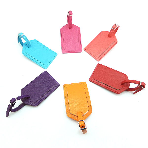 Leather luggage tag ID tag travel tag baggage tag