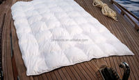 Wholesale luxury grey duck down quilt classic home textile