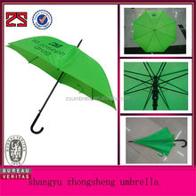 Green color automatic umbrella corporate branding