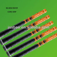 Orange golf grips with cord and rubber