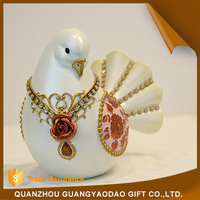 Trustworthy china supplier box mini garden pigeon resin animal christmas gift item