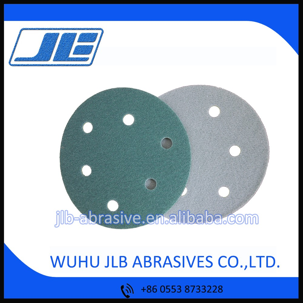 Size 125mm 6 Hole Grit 80 Heavy Duty Aluminium Oxide Sanding Grinding Disc for Industrial Metal Grinding