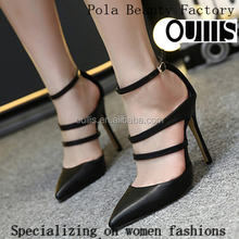 Mega March Sourcing 2017 Sexy pointed toe high heel sandals hot-selling ankle strap high heel dress shoes PE4112