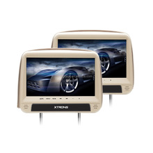 "XTRONS HD923 2x9"" download hindi video hd songs car dvd player headrest with zipper cover, car stereo india"