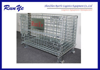 Stacking storage cage/fold up wire mesh cage/butterfly mesh cage