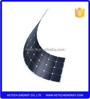 Anti Dumping free best price per watt back contact 110w 115w 120vsemi flexible thin film solar panel