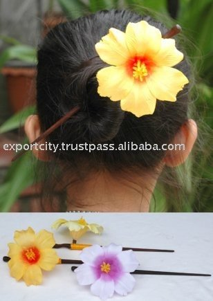 hawaiian hibiscus flower hair for kids and girls ( Hibicus hair pin)