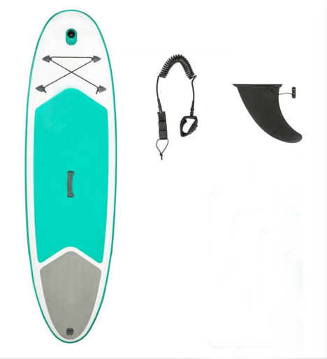 2.65m green surf paddle board for summer sports