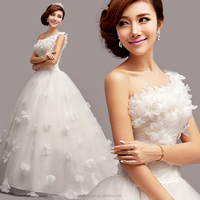 ZM 16118 cheap plus size wedding dresses made in china factory one-shoulder beach casual bridal gown wedding party dresses