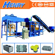 China machine export south africa QT4-20 automatic cement concrete brick block making machine, paver mould block price in India