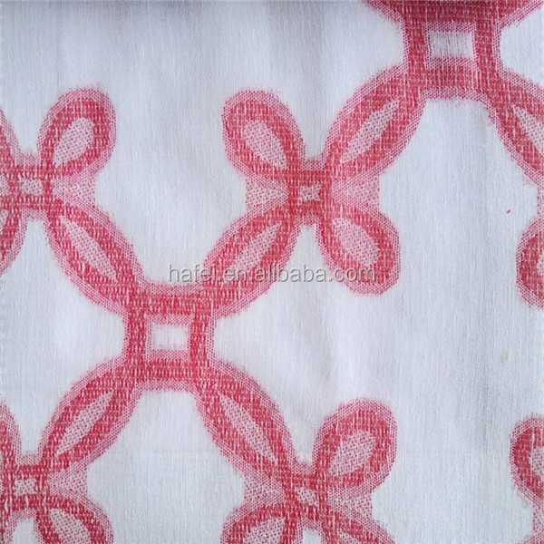 cheap 2 layer jacquard polyester crepe curtain fabric