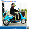 2017 new double seat adults unfoldable three wheel electric tricycle