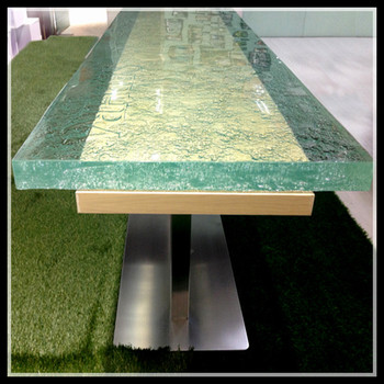 40mm classy wooden dining table with glass top designs