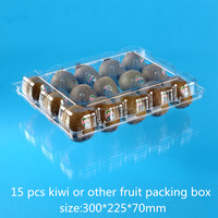 high quality clear pet plastic box/container with lid for kiwis
