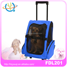 Newly Designed cute dog pet carrier cat travel trolley bag