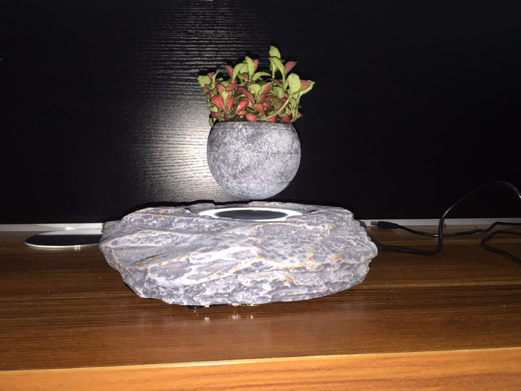 Potted Plant Table Small Plant Pots Levitating Grass Ball Tree Bonsai Tree