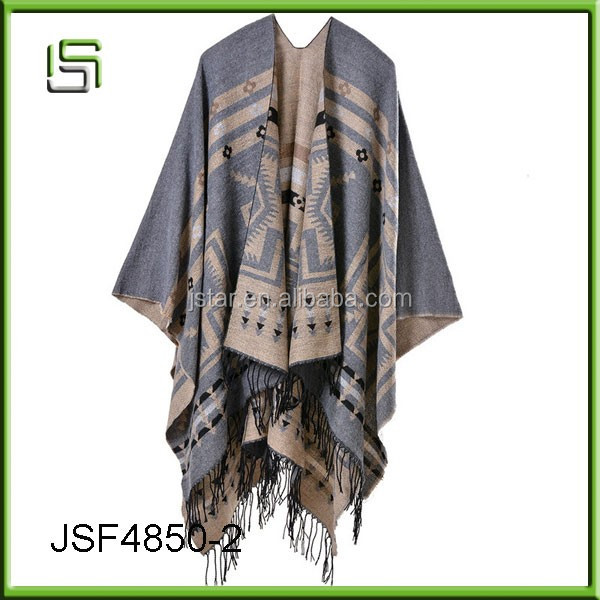 Hot sell cross plum lengthened imitation cashmere tassel shawl scarf