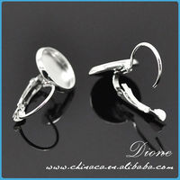 India fashion wholesale silver brass lady stud earring made in China
