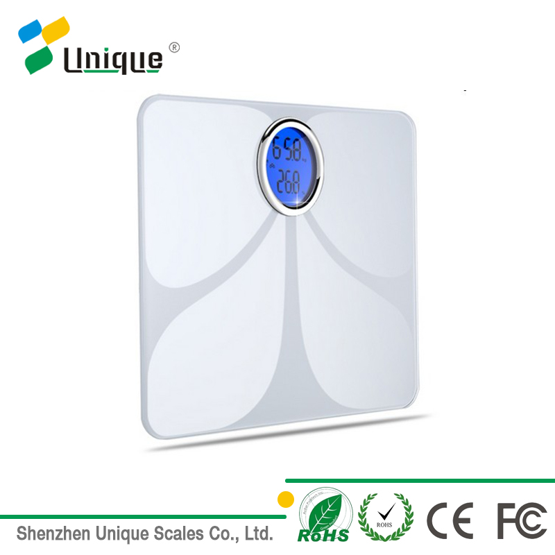 180kg 0.05kg High Precision Customized Bathroom Bluetooth Body Fat Weighing Scale