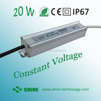 Aluminum metirial DC 12V 20W IP67 waterproof electronic LED driver from Shenzhen Shine