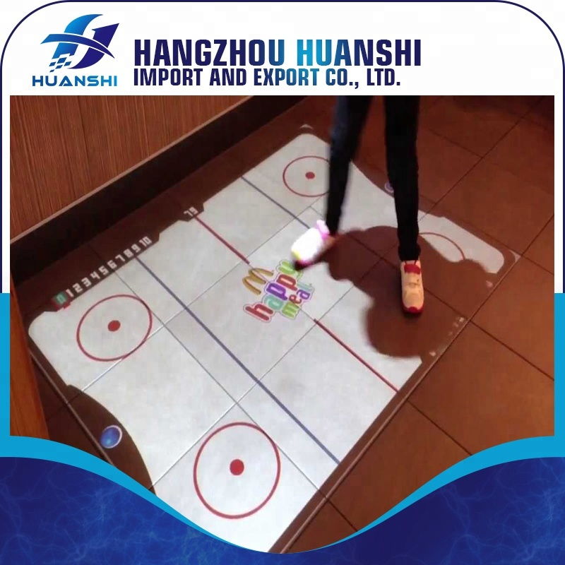 Interactive floor projection advertising system