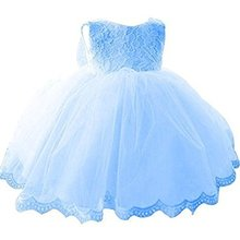 Lovely Baby Long-sleeved Princess Girl Kids Party Wedding Dresses for Girls of 7 years old