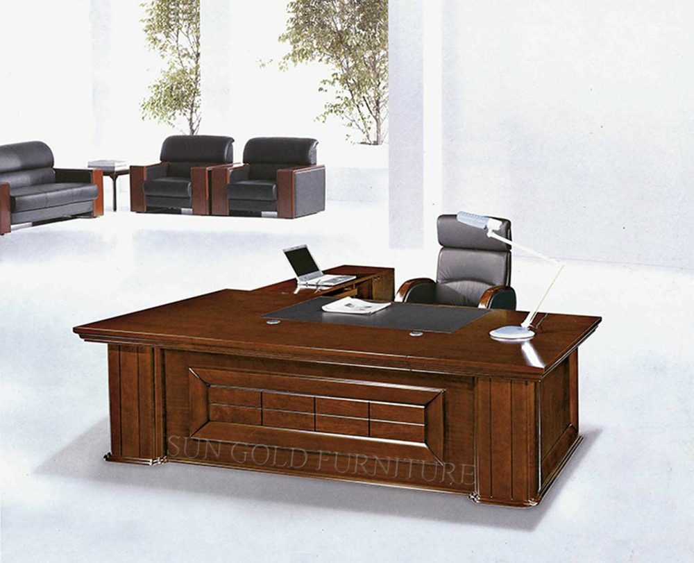 Luxury wooden office table mdf classic office design for Wooden office design