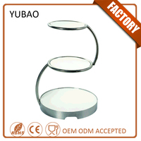 Luxury Hotel Amenity 3 Tier Wedding Cake Decoration , Cake Display Stand For Banquet And Buffet